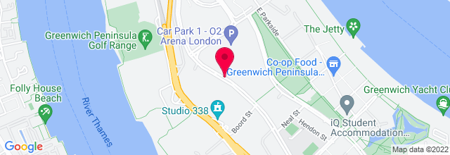 Map for The O2 Arena