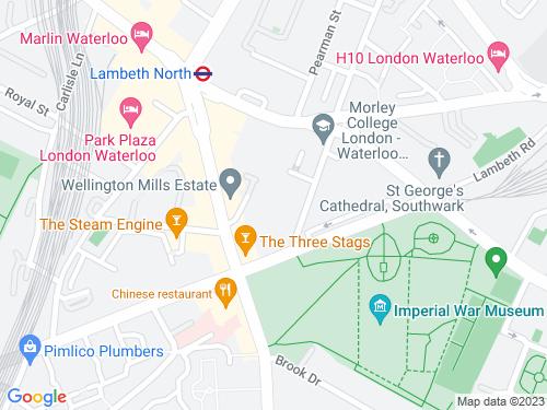 Map of Oakey Lane