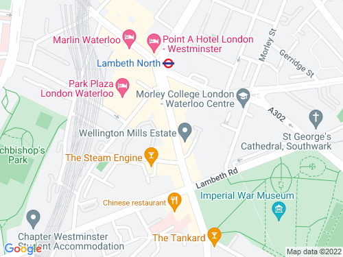 Map of Kennington Road