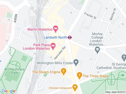 Map of Newnham Terrace