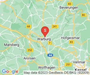 Karte für Bikepark Warbrug