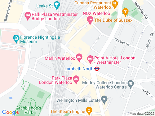 Map of Westminster Bridge Road