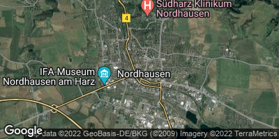 Google Map of Nordhausen