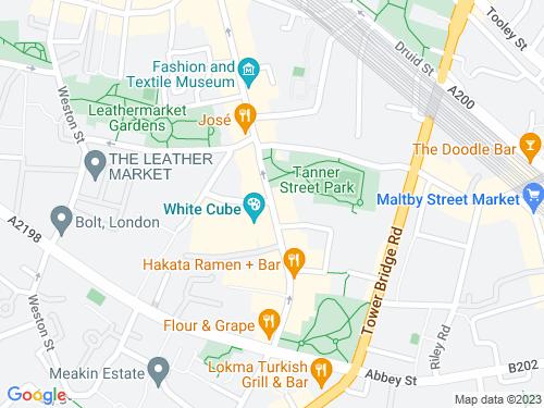 Map of Bermondsey Street