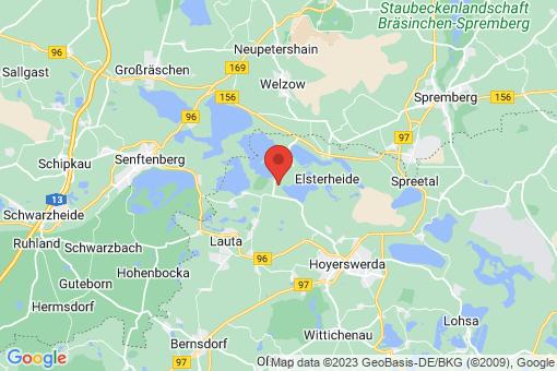 Karte Elsterheide