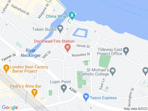 Map of Wolseley Street