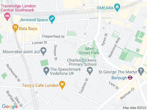 Map of Southwark Bridge Road