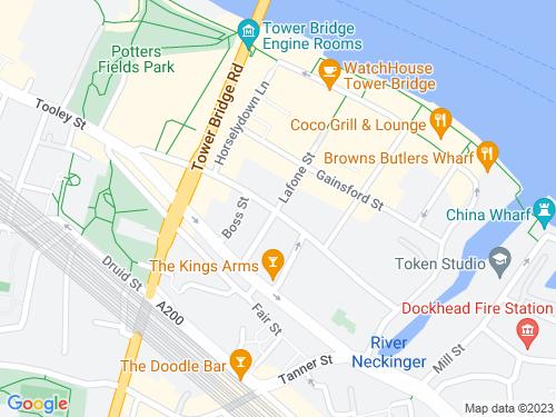 Map of Queen Elizabeth Street