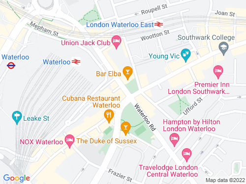 Map of Waterloo Road