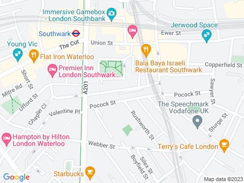 Map of Surrey Row