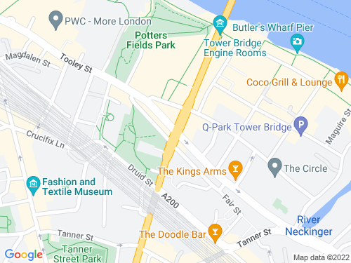 Map of Tower Bridge Road