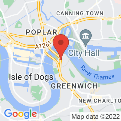 Map showing The Gentlemen Baristas at The O2
