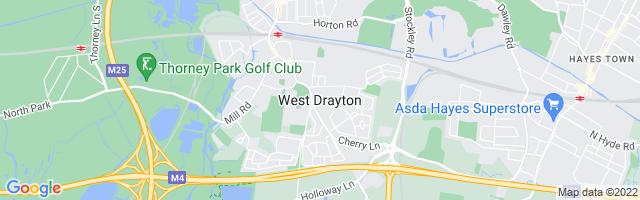 Map Of West Drayton