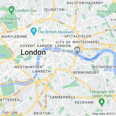 All Hallows Churchyard, Southwark Location