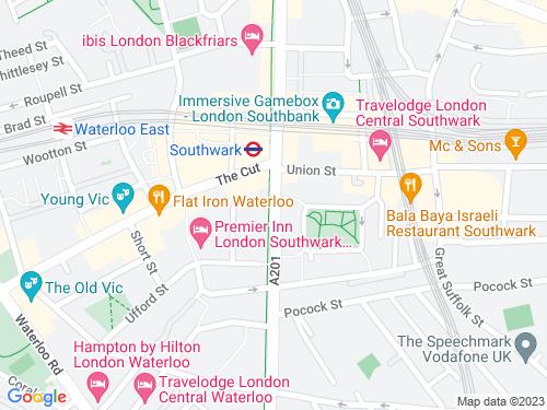 Map of Blackfriars Road