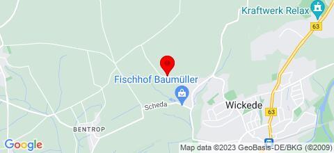 Google Map für Landhaus Vollenberg
