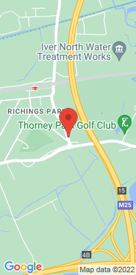 Map showing the location of the Iver Thorney Lane South monitoring site