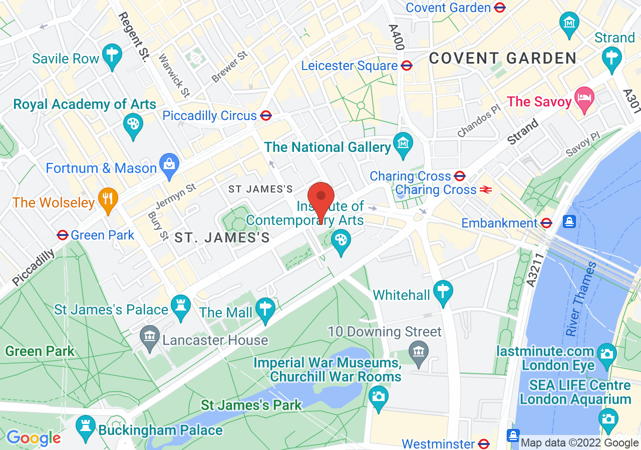 The location of 116 Pall Mall