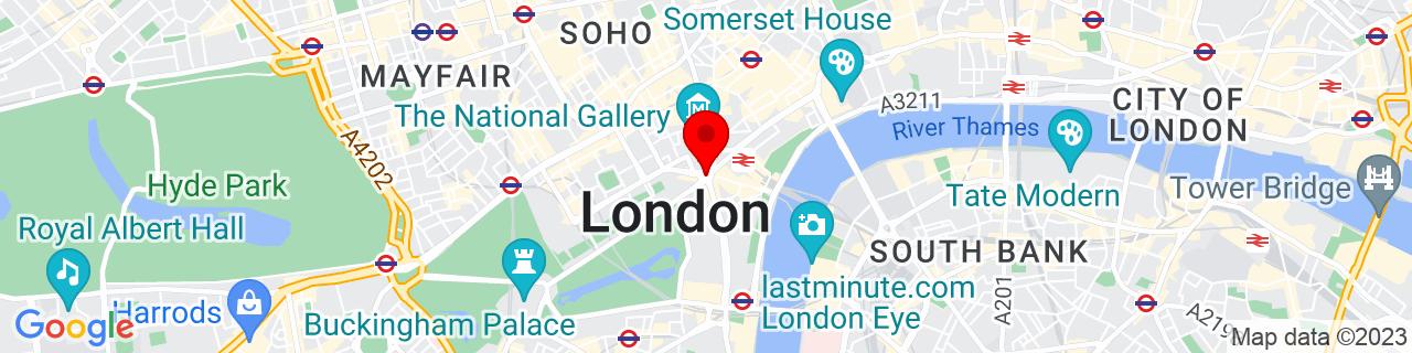 Google Map of 51.5073509, -0.12775829999998223