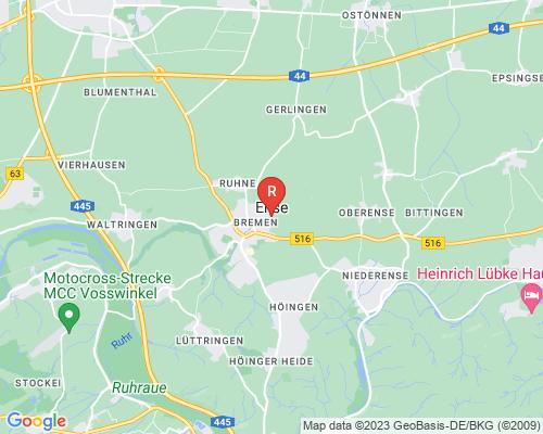 Google Karte von Rohrreinigung Ense