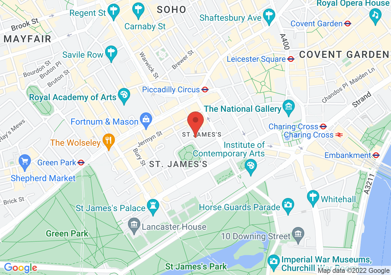 The location of The In & Out Naval and Military Club
