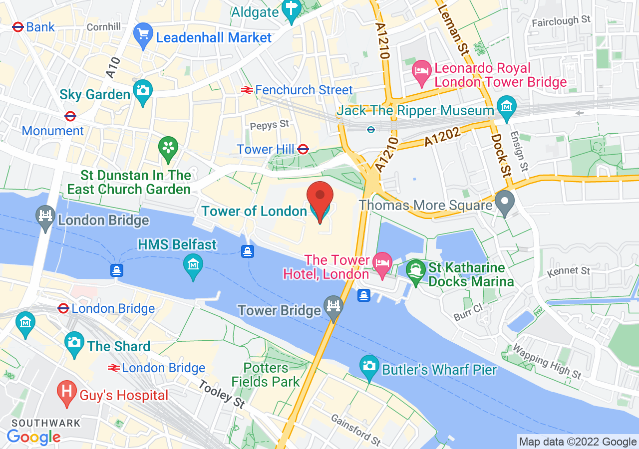 The location of Tower of London