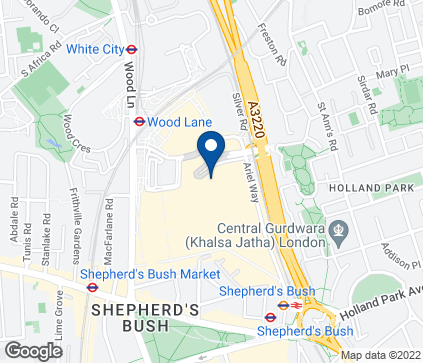 Map of White City Shopping Centre in Westfield
