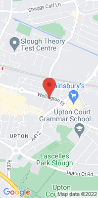 Map showing the location of the Slough Town Centre Wellington Street monitoring site
