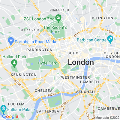 South Audley Street Location