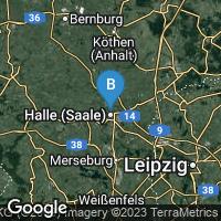 Lagekarte von Halle (Saale)