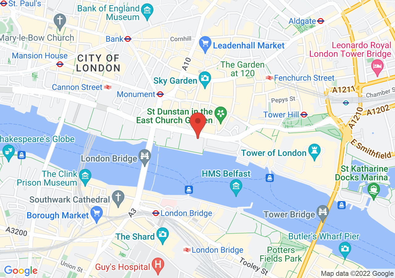 The location of Old Billingsgate London