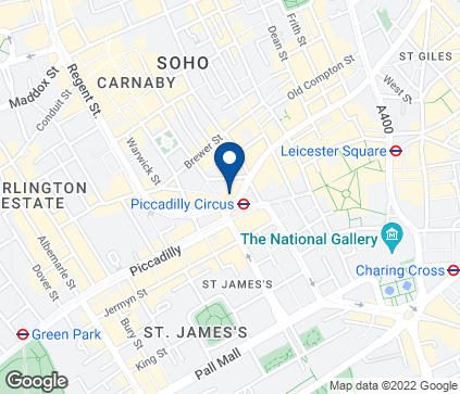 Map of 44-46 Regent Street in Piccadilly
