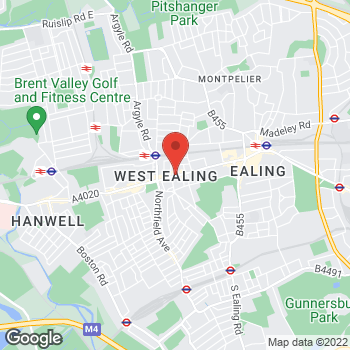 Map of The Co-operative Food Ealing, Uxbridge Road at Units 3 & 4, West Ealing, Greater London W13 8RA
