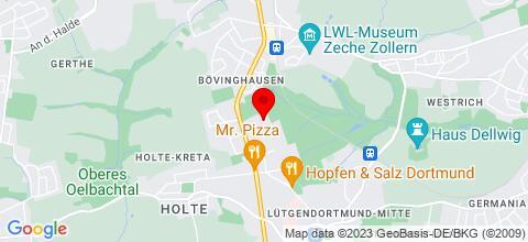 Google Map für Ferienwohnungen Monteurzimmer Essen Bochum