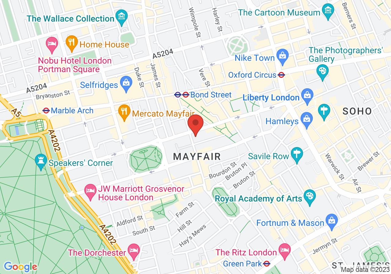 The location of Claridge's London