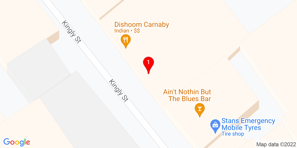 Google Map of 51.514076,-0.132610