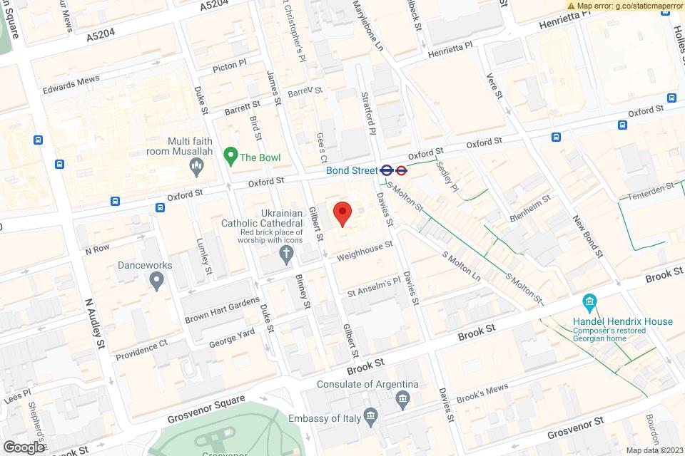 Unit C12, West One Shopping Centre, Westminster, W1C 2JS map