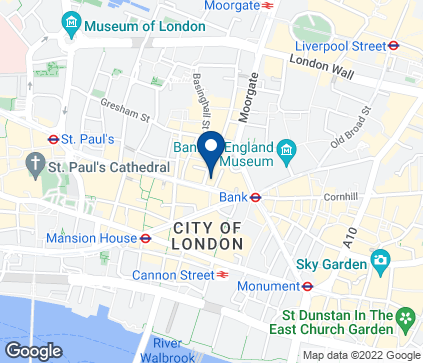 Map of 36 Poultry in London