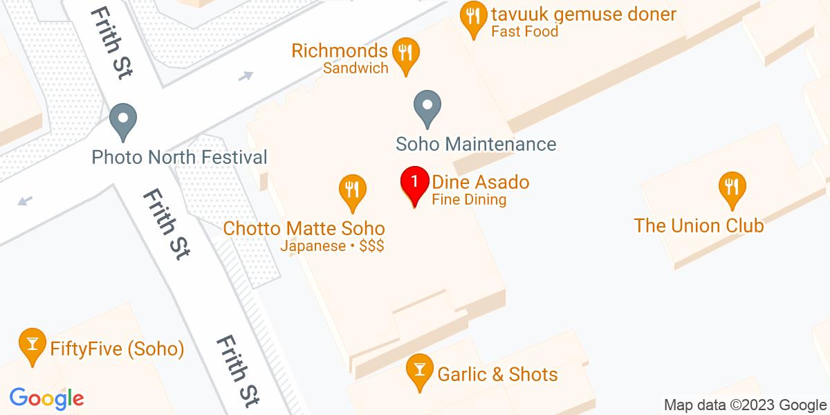 Google Map of 51.514076,-0.132610