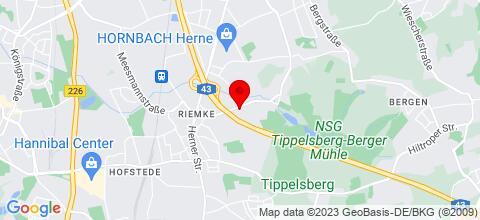 Google Map für bon marche hotel Bochum