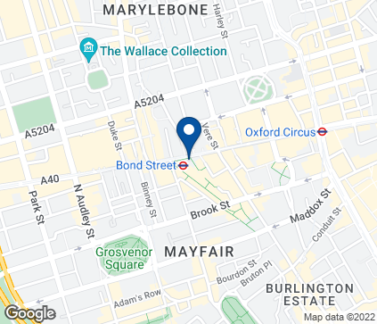 Map of 361 Oxford Street in London