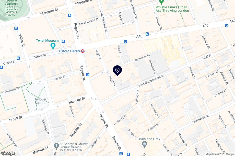 8 Argyll St, Soho, London, W1F 7TE map