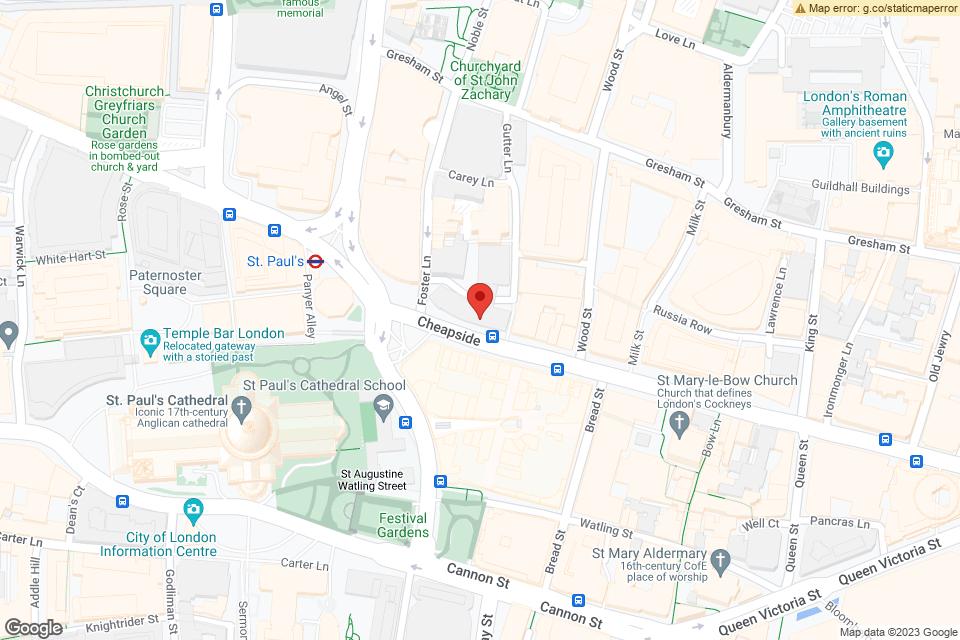 Cheapside, The City Of London, EC2V 6BJ map