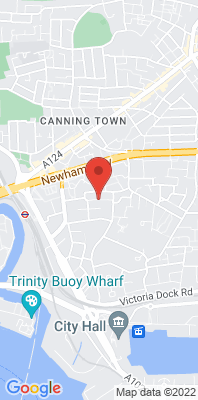 Map showing the location of the Newham Wren Close [Closed] monitoring site