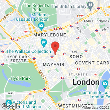 Map of Sunglass Hut at 332 Oxford Street, London, Greater London W1C1JF