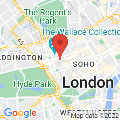 Map showing Workshop Coffee (Marylebone)