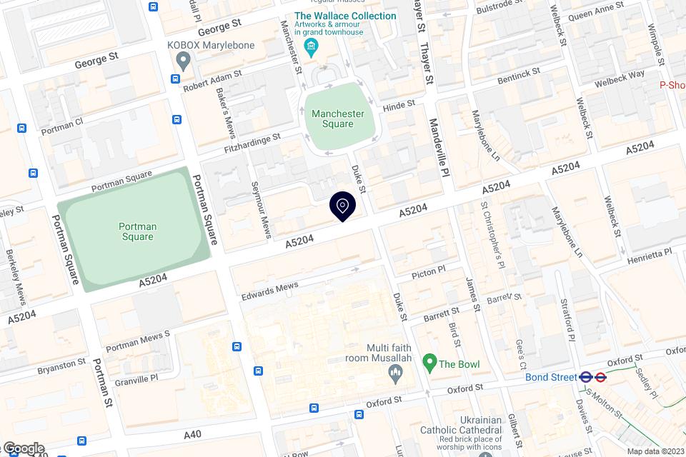110-116 Wigmore Street, London, W1U 3RS map
