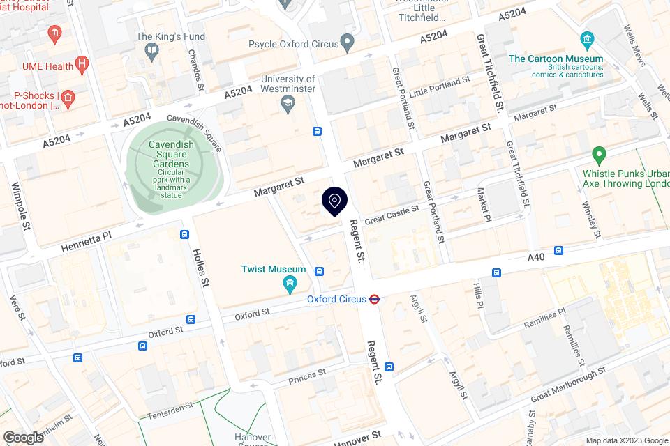 273 Regent Street, London, W1R 7PB map