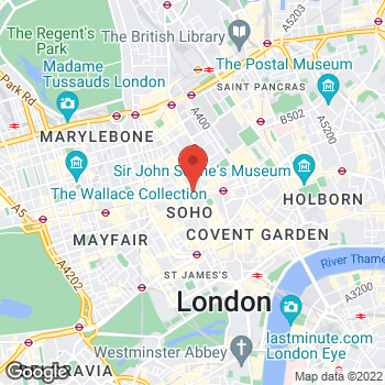 Map of Sunglass Hut at 90-92 Oxford Street, London, Greater London W1D1BY