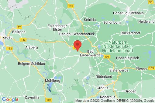 Karte Uebigau-Wahrenbrück